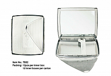 Regal Ladies high quality cigarette case with compact mirror t882