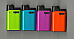 DJEEP  NEON HOT BODY COLORS  LIGHTER SET OF 4 ONE OF EACH COLOR NEW
