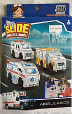 DIY SLIDE PUZLE 3 D PUZZLE AMBULANCE 3 SETS IN THE BOX
