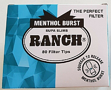 400 Ranch Supa Slims Menthol Burst 80 Filter Tips Tube Tobacco Cigarette filters