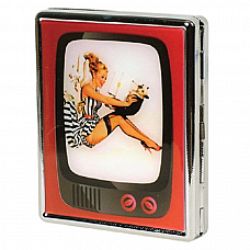 Aztec cigarette case Puppy Girl holds twenty cigarettes , Great collectible
