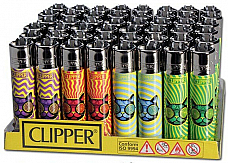 CLIPPER LIGHTERS wholesale  48 Trippy cat  collectible comes with bonus led lig