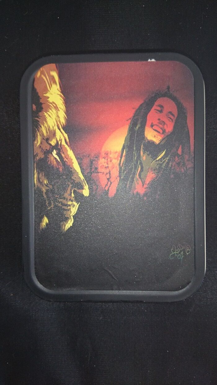 Bob Marley Tobacco Tins X 2 Comes With A Bonus Led Torch