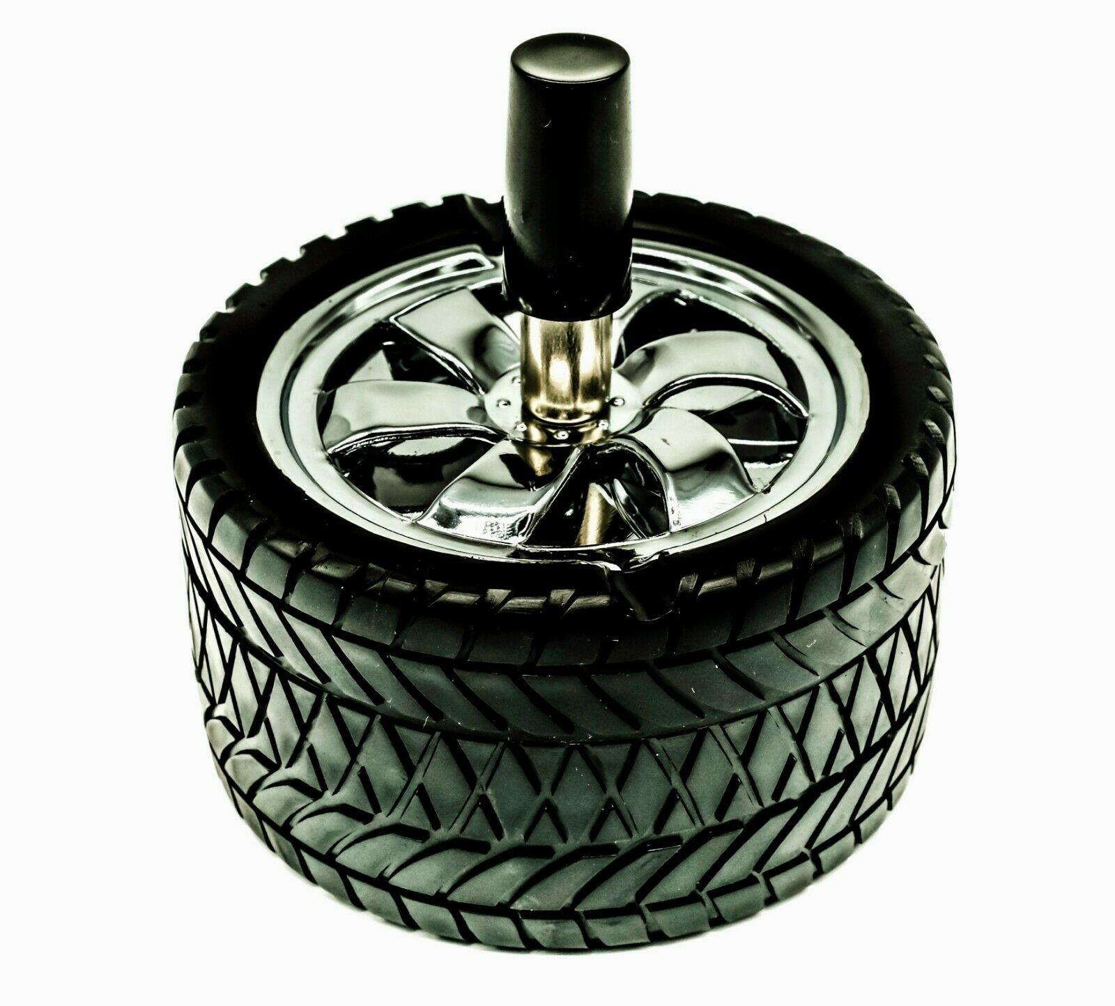 ASHTRAY TYRE SPINNING TYPE HIGH QUALITY 12 MONTH WARRANTY X2