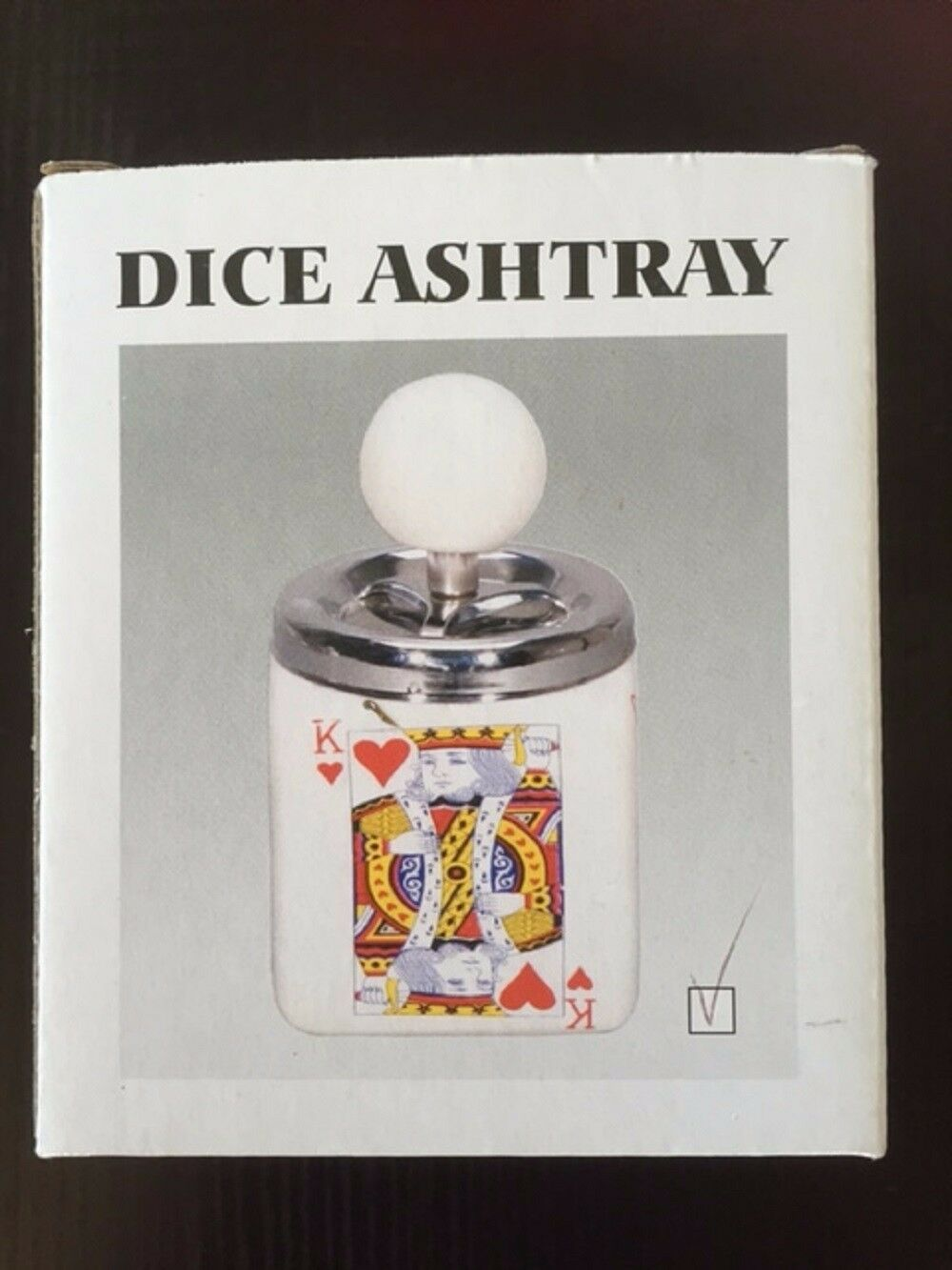 Zico ASHTRAY SPINNING KING OF HEARTS CERAMIC HIGH QUALITY